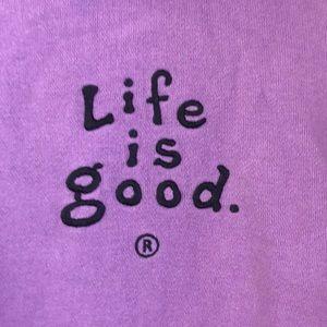 Lilac Life is Good hoodie sweatshirt XL